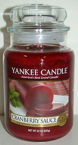 1 X Cranberry Sauce 22 oz ounce Yankee Candle by Yankee Cand