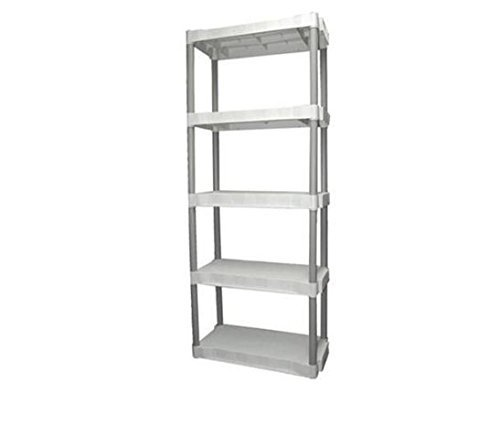Plano 5-shelf Storage Unit, Light Taupe by Plano