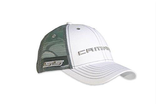 Chevy Camaro SS White Mesh Hat