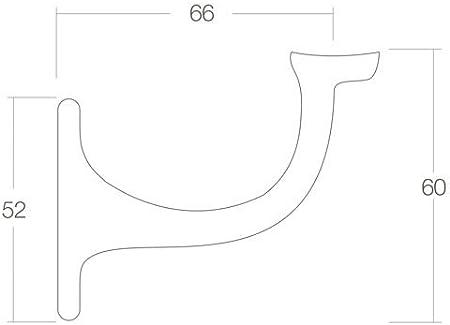 Handlaufhalter Handlauf St/ütze Wandhalter Auflage gew/ölbt Stockschraube Schwarz Ballettstangenhalter