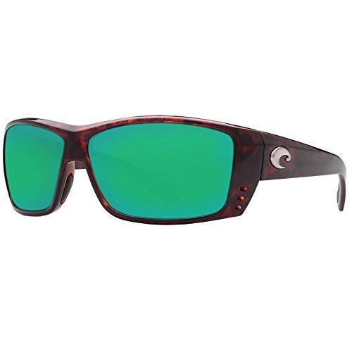 Costa Del Mar Cat Cay Sunglasses, Tortoise, Green Mirror 580 Plastic Lens
