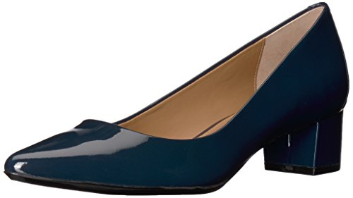 Calvin Klein Women's Genoveva Pump, Navy Patent, 10 Medium US