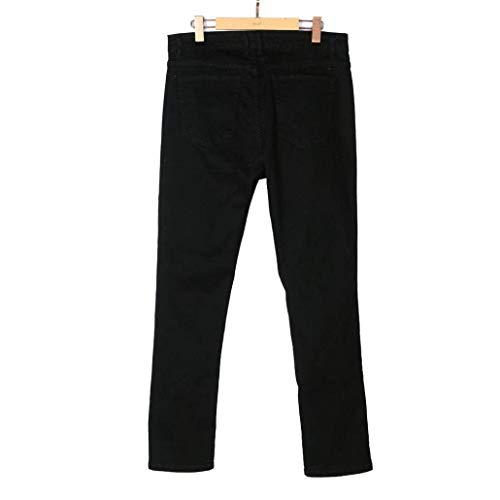 Misto Pants Abbigliamento Strappato Di Tessuto Da Biker Nero Realizzati Slim Cotone crop Skinny Distressed Pantaloni Self Uomo Chino Jeans In Frayed E 0RHOIH