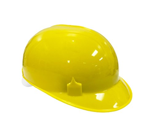 - Bump Cap with 4 Point Pin Lock Suspension, HDPE Cap Style, Yellow