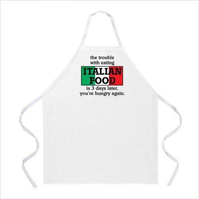 L. A. Imprints 2027 Italian Food Cooking Apron   B000MRDDQ4