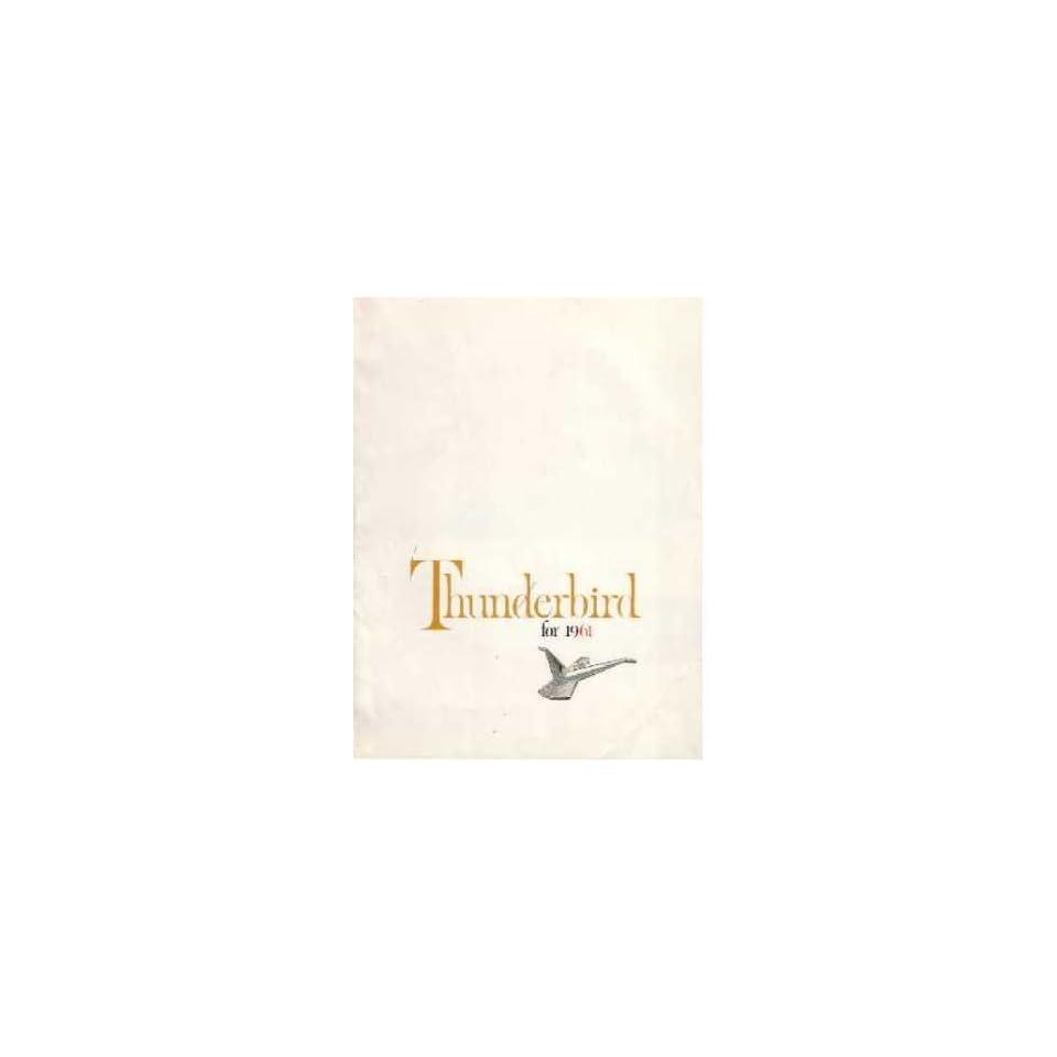 1961 FORD THUNDERBIRD Sales Brochure Literature Book