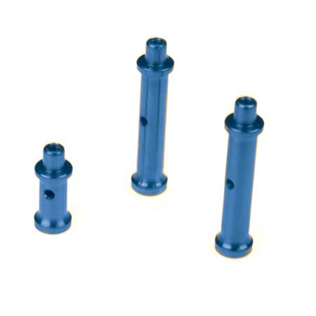 Dynamite Dyn7215b Fuel Tank Post Set Aluminum Blue Lst
