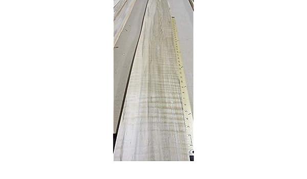 "Spalted Ambrosia Wormy Maple Figured Fiddleback wood veneer 9/"" x 120/"" no backing"