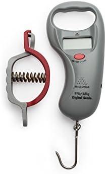ReelSonar Digital Fish Scale Tape Measure 99lb 45kg and Fish Lip Gripper
