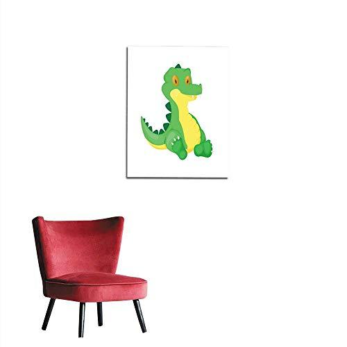 (longbuyer Photographic Wallpaper Crocodile Animal Cartoon Alligator Vector Character Green Zoo Wildlife Reptile Predator Illustration Mural 20