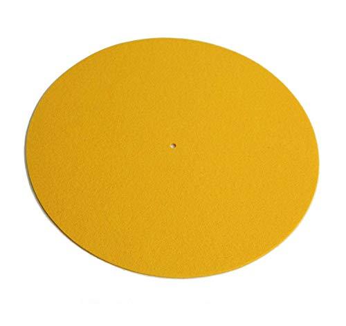 Rega Mat Yellow Standard Wool Turntable Mat