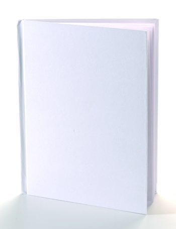 White Hardcover Blank Book 11X8-1/2 -- Case of 8