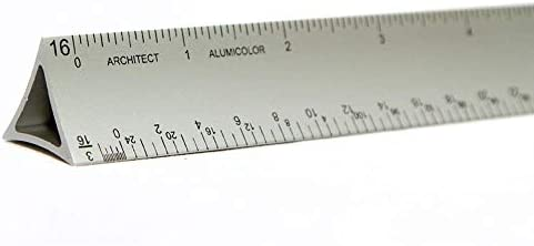 12 inches Silver Alumicolor Architects Ruler