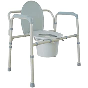 Drive Medical Heavy Duty Bariatric Folding Commode, Gray