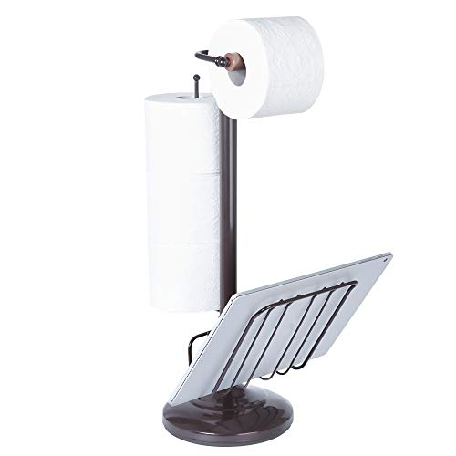- Better Living Products 54520 Toilet Caddy Tissue Dispenser with Magazine Rack, Oil Rubbed Bronze
