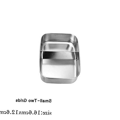 Mikash Storage Outdoor Bento Food Container Lunch Box Camping Stainless Steel heatable | Model FDCNTNR - 822 | Small-Two ()