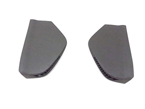 (AUTO PARTS LAB Dash Air Vent Grill Trim Pewter Cover Pair Black Cadillac CTS 2003 03 2004 04)