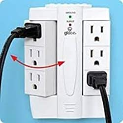 Side Socket 6 Plug Swivel Outlet - Plug Up To 6 Cords In And Swivel To The Side - Creates Space Where You Need It Most