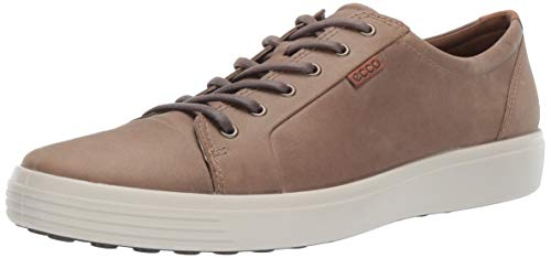 ECCO Men's Soft 7 Sneaker, Navajo Brown Oil Nubuck, 47 M EU (13-13.5 US)