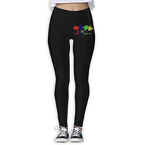 NO2XG Autism Awareness Women's Full-Length Capri Pants Wire-Free Pants by NO2XG