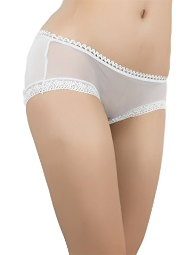 iB-iP Mujer Ojo De La Cerradura Detrás Puro Ojete De Poca Altura Pantalón Corto Blanco