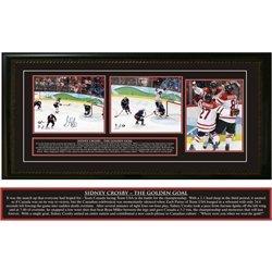 Sidney Crosby - Signed & Framed Triple 8x10 Team Canada 2010 The Golden Goal from Frameworth
