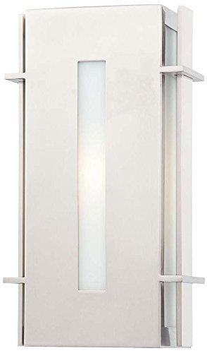 Minka Lavery Outdoor Wall Light 72121-144-PL Colva Exterior Pocket Sconce Lantern, 13w Fluorescent, Steel