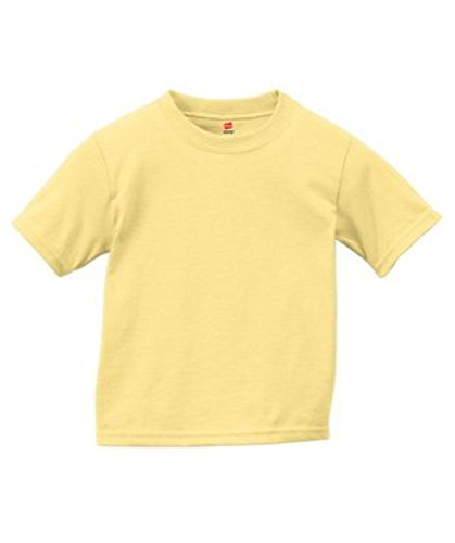 Lovely Daffodil - Hanes ComfortSoft® Crewneck Toddler T-Shirt, Daffodil Yellow, 3T