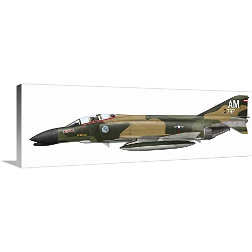 - GREATBIGCANVAS Gallery-Wrapped Canvas Entitled Illustration of an F-4C Phantom II of The U.S. Air Force by Ink Worm 48