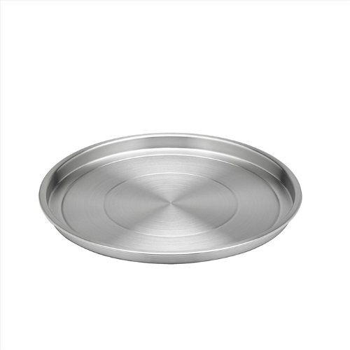 (Kraftware Brushed 12-Inch Stainless Steel Round Tray)