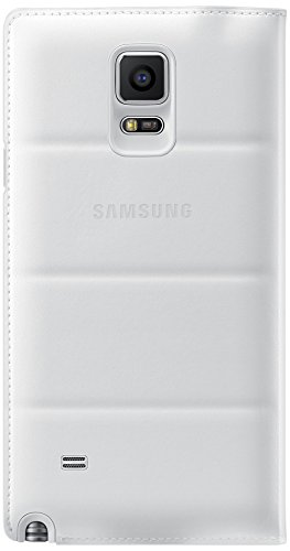 Samsung S-View Wireless Charging Cover for Galaxy Note 4 - Retail Packaging - White