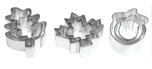 Wilton Leaves and Acorns 9-Piece Aluminum Cookie Cutter Set ()