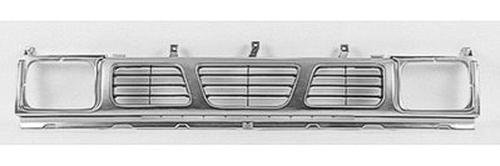 CPP Silver Front Grille Assembly for Nissan D21, Pickup NI1200115 - Nissan Pickup Grille Assembly