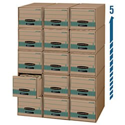 Bankers Box Stor/Drawer Steel Plus 100% Recycled Storage Drawers, Letter, 6 Pack (1231101)