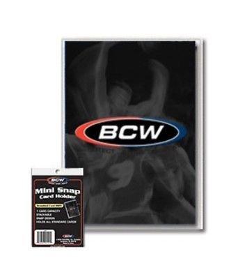 Verzamelingen 3 Pack Verzamelkaarten, ruilkaarten BCW Mini Snap Tite Card Holders Stackable Standard Size Archival Safe