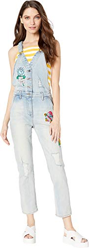 Juicy Couture Women's Tattoo Patch Denim Overall Cabana Wash -