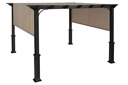 Amazon.com : The Outdoor Patio Store Replacement Canopy Fabric (with Ties)  for Lowes Garden Treasures 10-Foot Square Pergola with Canopy #S-J-110, ... - Amazon.com : The Outdoor Patio Store Replacement Canopy Fabric (with