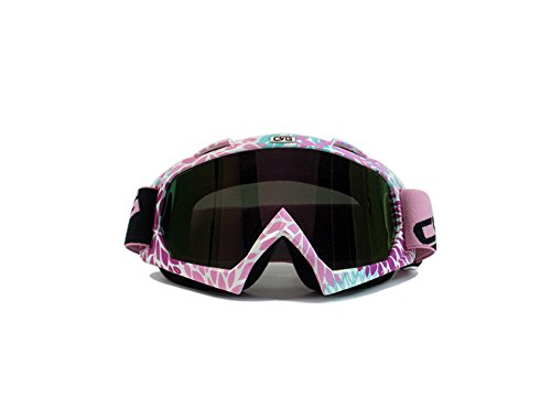 CRG Sports Motocross ATV Dirt Bike Off Road Racing Goggles T815-7-6 Parent (Pink Multi-Color Lens 12A)