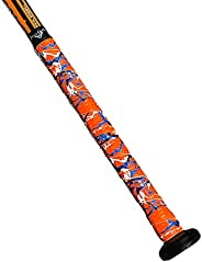 Ballpark Elite Bat Grip Tape 1.10mm, Orange, Blue and White Camo Baseball/Softball