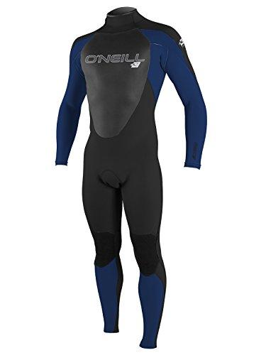- O'Neill Men's Epic 4/3mm Back Zip Full Wetsuit, Black/Navy/Black, Large