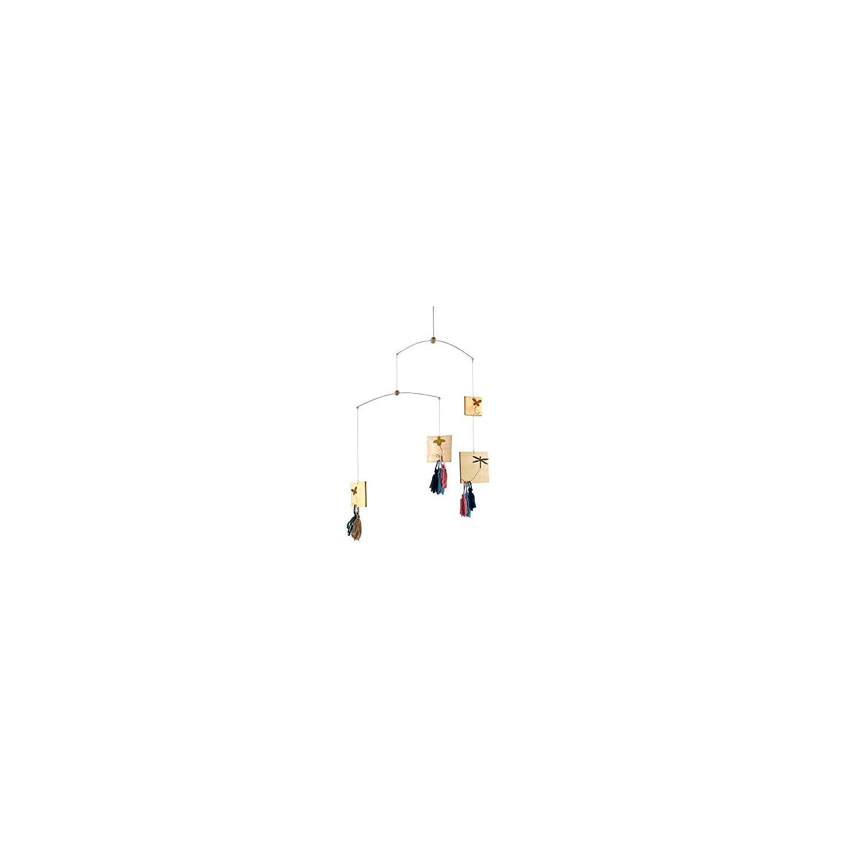 Roser Life Hanging Mobile Baby Crib, Wooden Ceiling Mobile, Modern Decorative Monochrome Butterfly Dragonfly Bee Tassel Mobiles Art for Adults Kids Children Nursery Girls, Baby Shower Birthday Decor