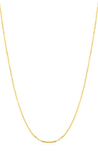 14K Yellow Gold .8mm Solid Box Chain, 22'' by JOTW