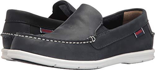 Sebago Women's Liteside Slip-On Loafer, Navy Leather, 5 M US