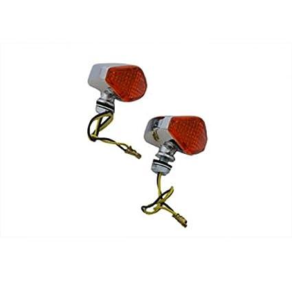 V-Twin 33 - 0447 - LED Diamond ámbar lente marcador lámpara ...