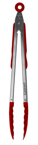 UPC 072898895990, Cuisinart 12 Inch Stainless Steel Locking Tongs, Red