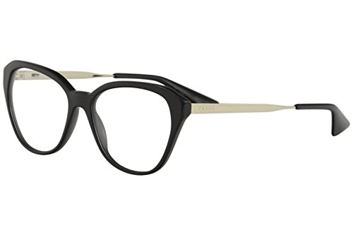 - Prada CINEMA PR28SVF Eyeglass Frames 1AB1O1-54 - Black PR28SVF-1AB1O1-54