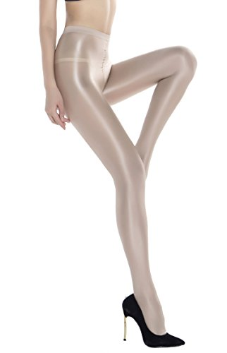 Shaping Stockings Dance Socks Shiny Flash Super-slick Body Stockings 70D Women's Sheer Compression Shaping Pantyhose 70D Push Up Shape Silk Stockings (Body Shaping Pantyhose)