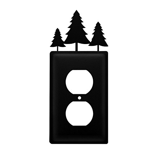 Metal Light Switchplate Cover - Iron Pine Trees Outlet Cover - Heavy Duty Metal Light Switch Cover, Electrical Outlet Covers, Lightswitch Covers, Wall Plate Cover
