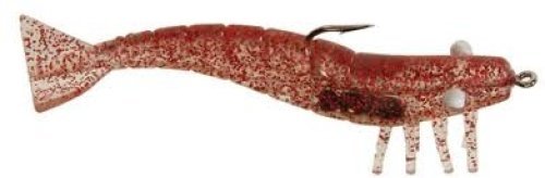 DOA Shrimp Spare Parts 9pk 3in Near Clear Red Glitter Md#: FSH-3-9P-368