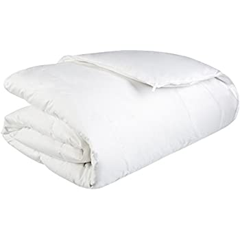 Pinzon Heavyweight Shed-Resistant White Down Comforter - Twin
